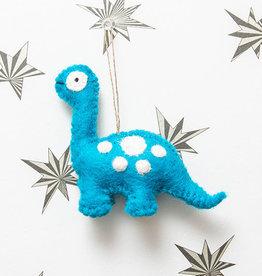 The Winding Road Dinosaur Ornament Blue