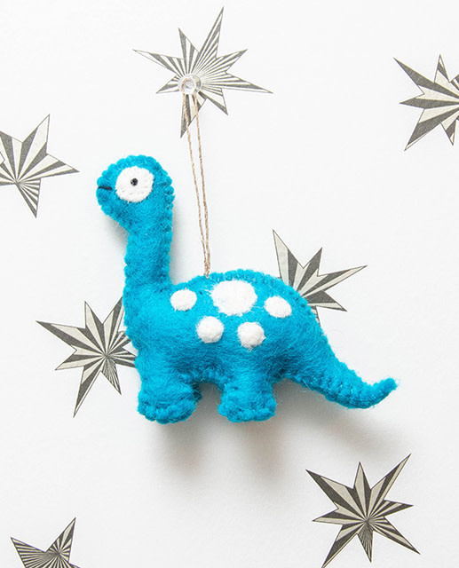 The Winding Road Dinosaur Ornament Blue