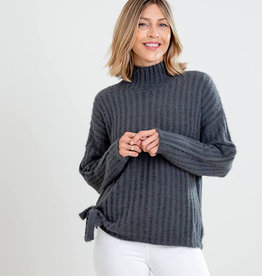 Mer-Sea & Co Chalet Tie Sweater Slate