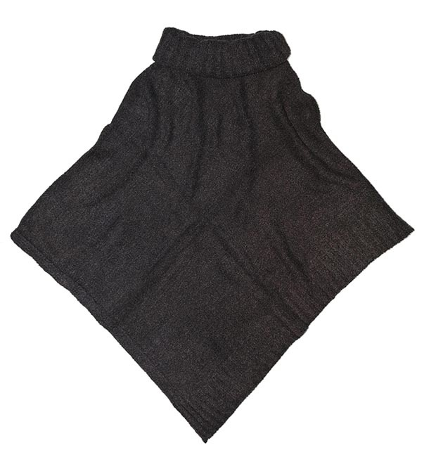 Fraas Cozy Triangle Poncho Charcoal OS