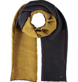 Fraas Double Face Plisse Scarf in Mid Grey