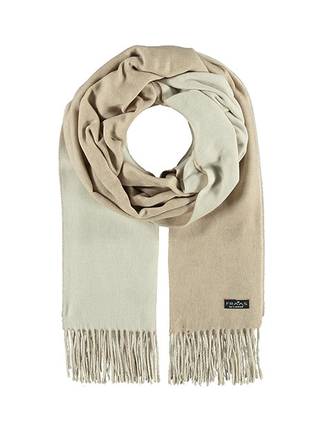 Fraas Double Face Solid Scarf Beige