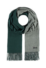 Fraas Double Face Solid Scarf Mid Grey