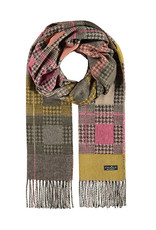 Fraas Squared Houndstooth Scarf Bronze