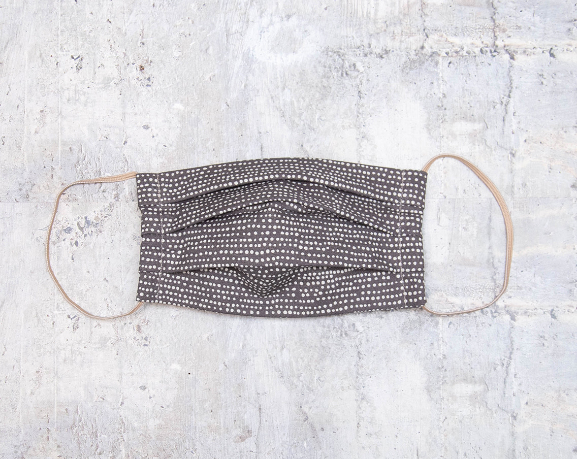 Kreatelier Face Mask Grey with Tiny Dots