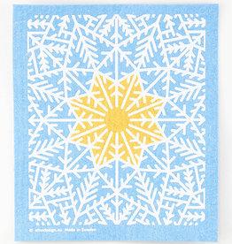 Cose Nuove Swedish Dishcloth Snow Crystal Blue