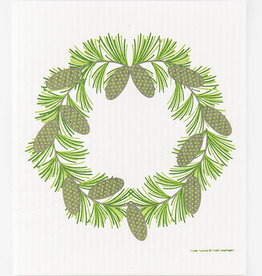 Cose Nuove Swedish Dishcloth Pine Cone Wreath