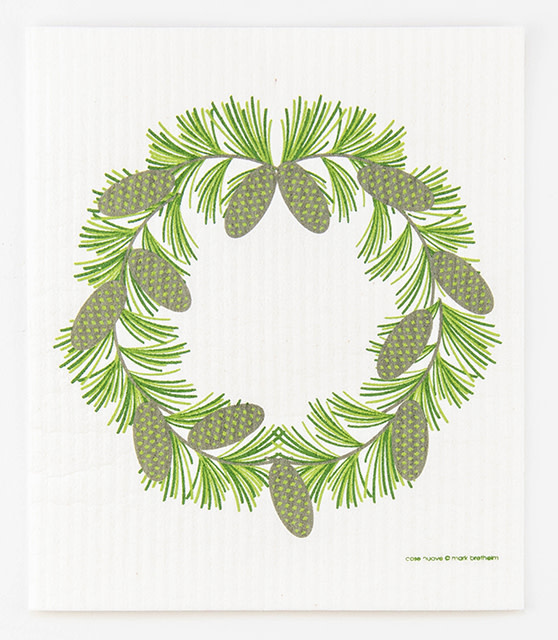 Cose Nuove Swedish Dishcloth Pine Cone Wreath