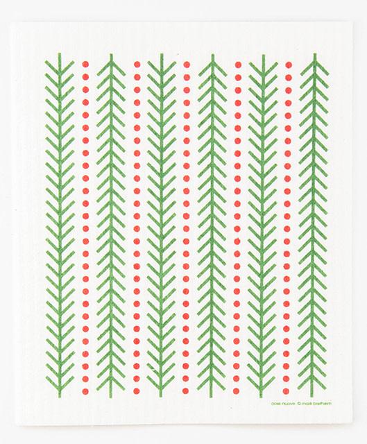Cose Nuove Swedish Dishcloth Pine Dots