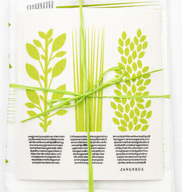 Esthetic Living Tea Towel and Swedish Dishcloth Herbs Green