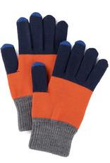 Verloop Trio Colorblock Touchscreen Gloves Navy Rust Grey