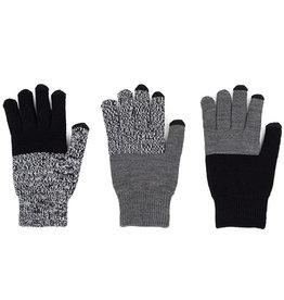Verloop Pair and Spare Touchscreen Gloves Black Grey Marl