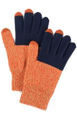 Verloop Colorblock Touchscreen Gloves Navy Poppy Marl