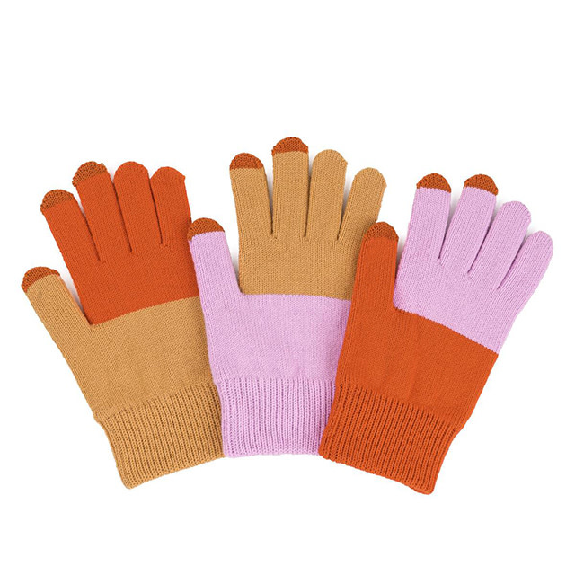 Verloop Pair and Spare Touchscreen Gloves Camel Lilac Rust