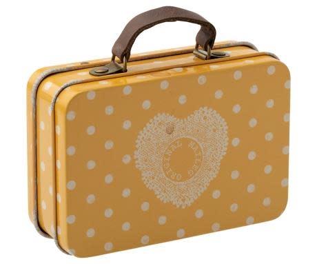 Maileg Travel Suitcase Yellow Dot