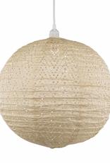 Allsop Home and Garden Pendant Stella Nova Chevron Pearl 18'