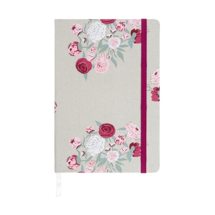 Sophie Allport Fabric Notebook Peony