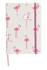Sophie Allport Fabric Notebook Flamingos