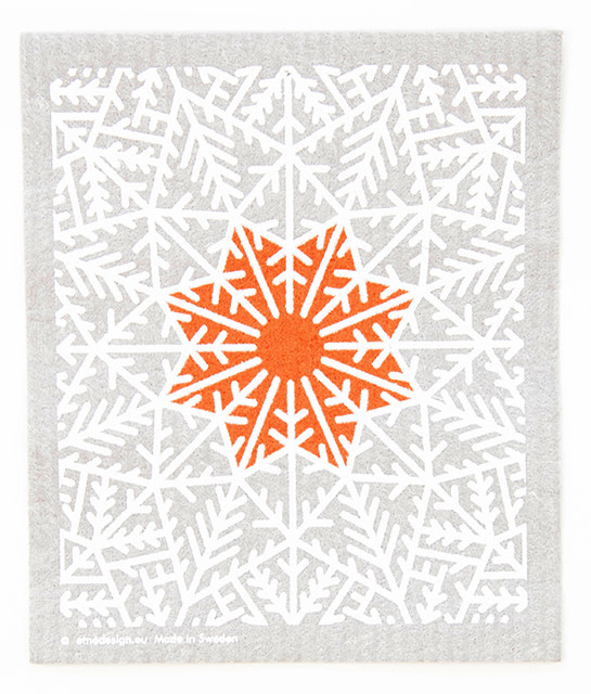 Cose Nuove Swedish Dishcloth Snow Crystal Grey