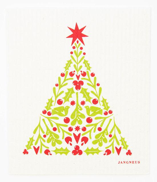 Esthetic Living Swedish Dishcloth Christmas Tree Red