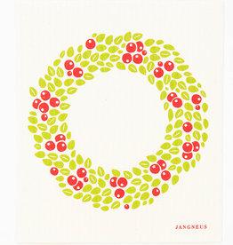 Esthetic Living Swedish Dishcloth Wreath Red