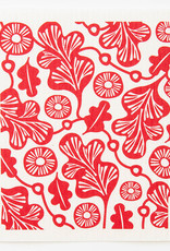 Esthetic Living Swedish Dishcloth Oak Leaf Red