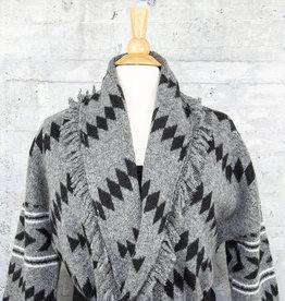 RD International Aztec Cardigan Grey