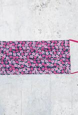Kreatelier Big Children Face Mask Small Flowers Pink