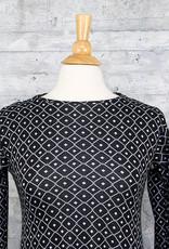 Matthildur Geometric Dress in Black and Ivory