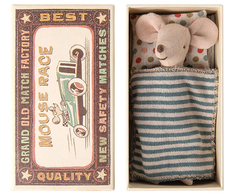 Maileg Mouse Big Brother in Matchbox