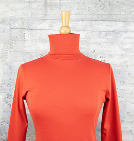 Necessitees Long Sleeve Tunic Turtleneck Cinnabar