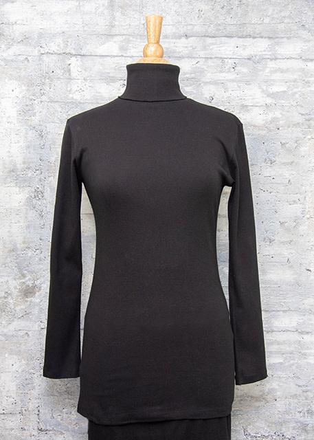 Necessitees Long Sleeve Tunic Turtleneck Black