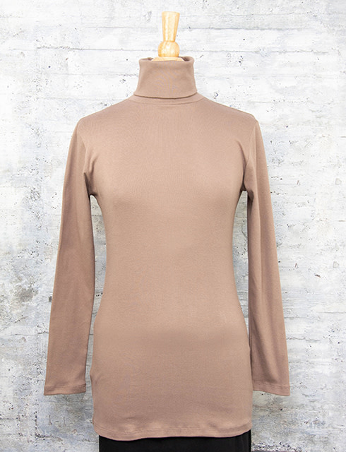 Necessitees Long Sleeve Tunic Turtleneck Moss