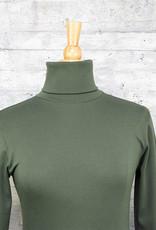 Necessitees Long Sleeve Tunic Turtleneck Olive