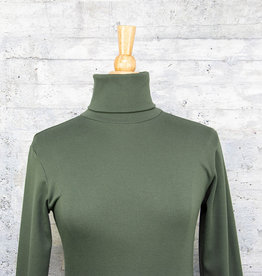 Necessitees Long Sleeve Tunic Turtleneck Olive