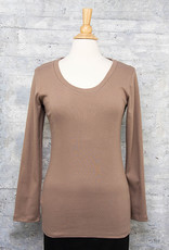 Necessitees Long Sleeve Tunic U Neck Moss