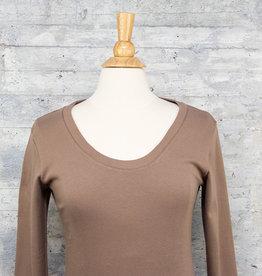 Necessitees Long Sleeve Tunic U Neck Moss
