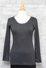 Necessitees Long Sleeve Tunic U Neck Asphalt