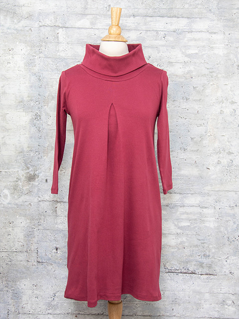 Necessitees Cowl Neck Dress Burgundy