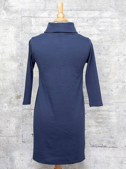 Necessitees Cowl Neck Dress Navy