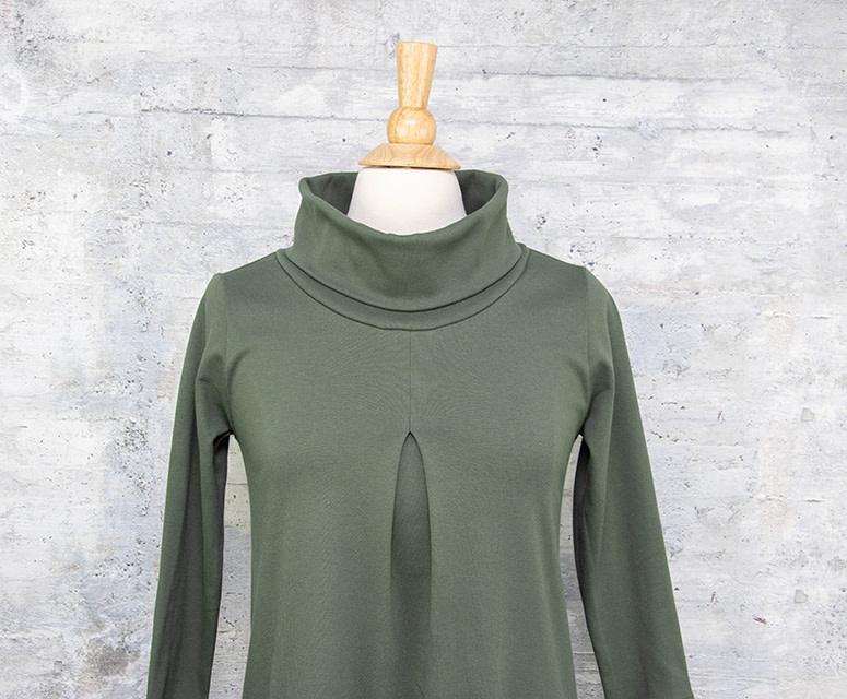 Necessitees Cowl Neck Dress Olive