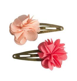 Maileg Hair Clip Fluffy Flower Rose 2pc