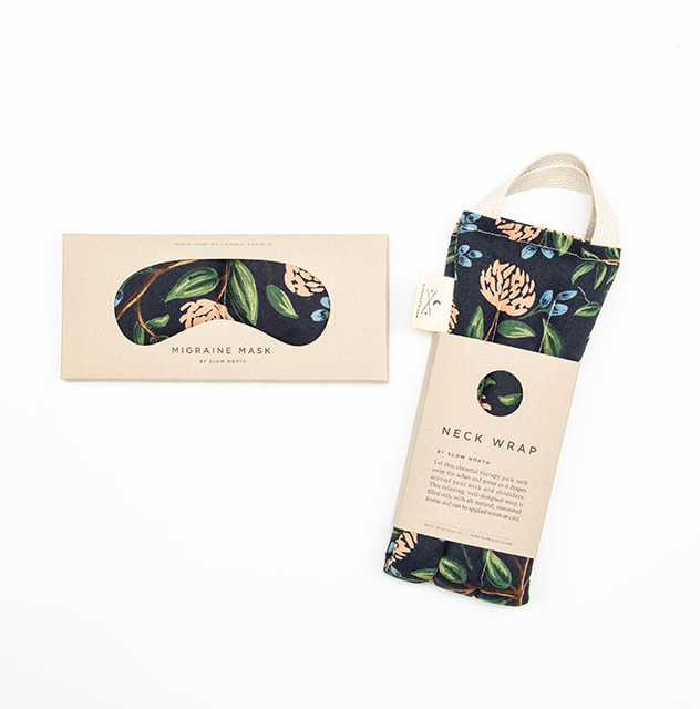 Slow North Eye Mask Therapy Pack Blue Peonies