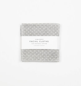 Slow North Reusable Facial Cloths Slate Set of 8