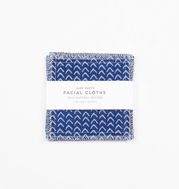 Slow North Reusable Facial Cloths Indigo Set of 8