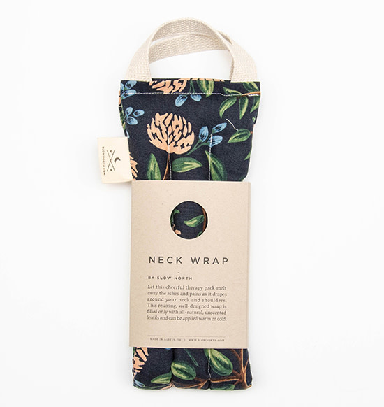 Slow North Neck Wrap Therapy Pack Blue Peonies