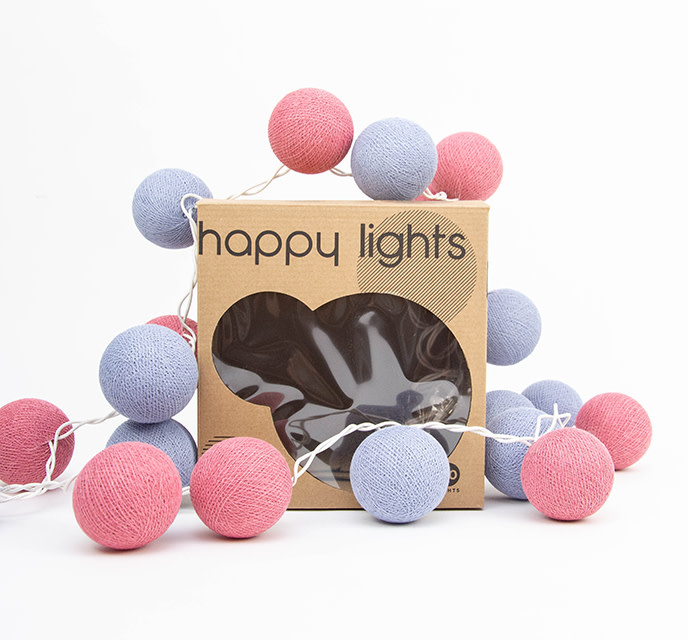 Happy Lights Happy Lights Box Lavender and Pink