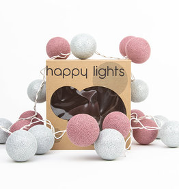 Happy Lights Happy Lights Box Dusty Pink and Silver
