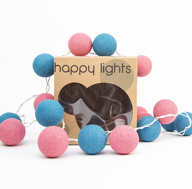 Happy Lights Happy Lights Box Blue and Pink