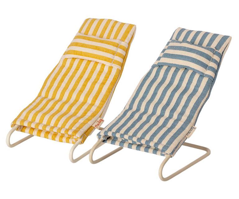 Maileg Mouse Beach Chair Set of 2